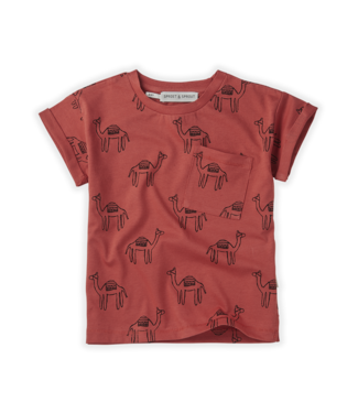 Tshirt print Camel Cherry Red