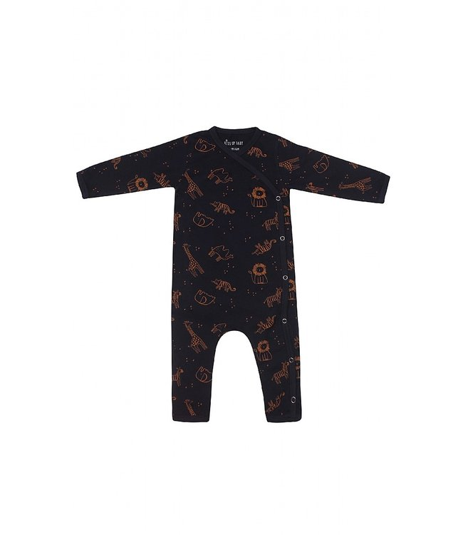 Kids Up Jumpsuit Felix Blauw dierenprint