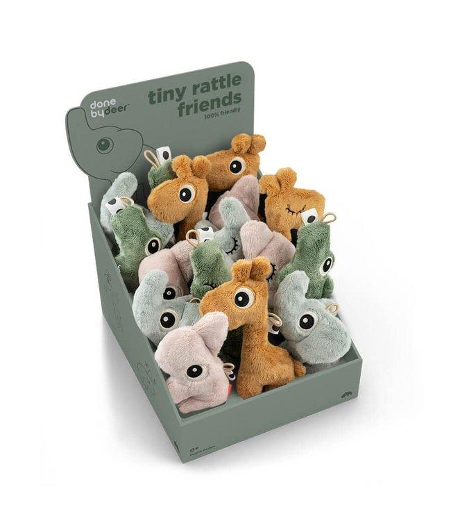 Done by deer Tiny Sensory Rattle keuze uit 4 diertjes