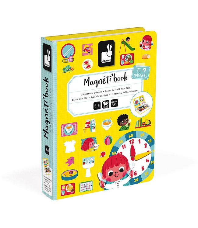 Janod Magneetboek Klokkijken