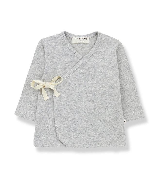 1+ in the family Newborn Shirt Babette Grey