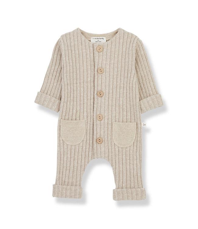 1+ in the family Jumpsuit ALAIN Rib Fleece Cream