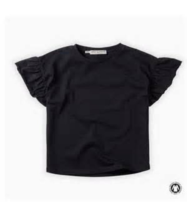 Tshirt Ruffle Black