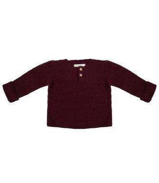 Little Indians Knit Sweater Eggplant 0-3 mnd