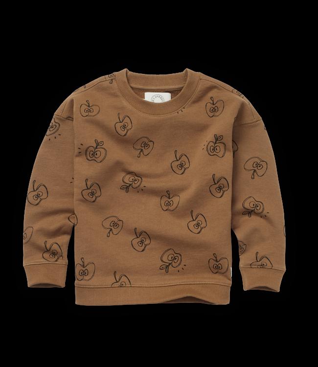 Sweatshirt Apple Print