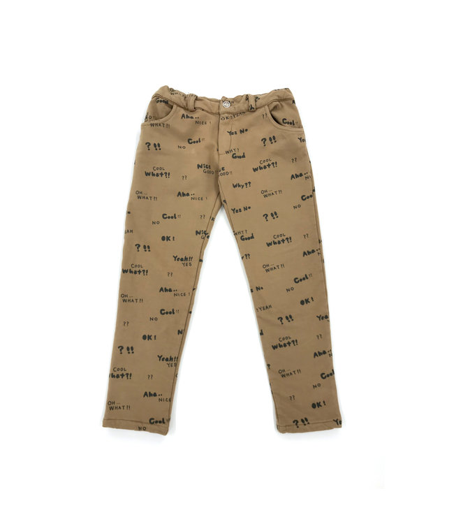 Pinata Pum Broek Brown All over Letters
