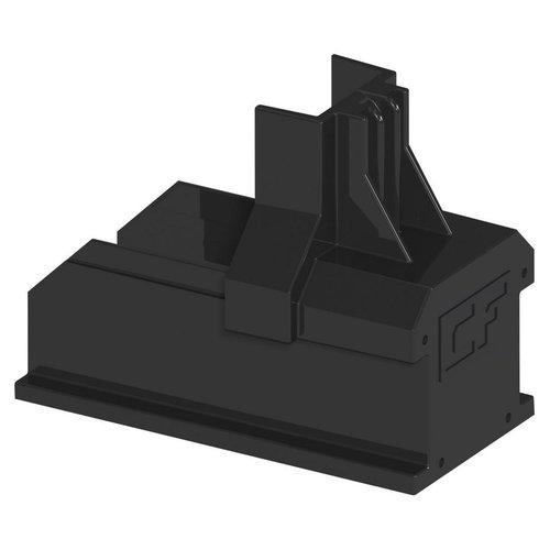 Esdec ClickFit EVO eindkap montagerail zwart