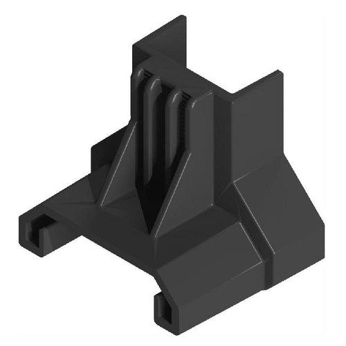 Esdec ClickFit EVO eindklemsteun montageprofiel staaldak zwart