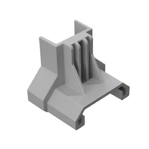 Esdec ClickFit EVO eindklemsteun montageprofiel staaldak grijs
