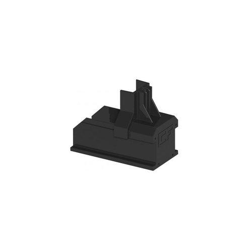 Esdec Doos Clickfit Basic eindkap zwart voor montagerail - Copy