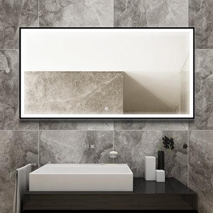 Badkamerspiegels met zwart omlijsting