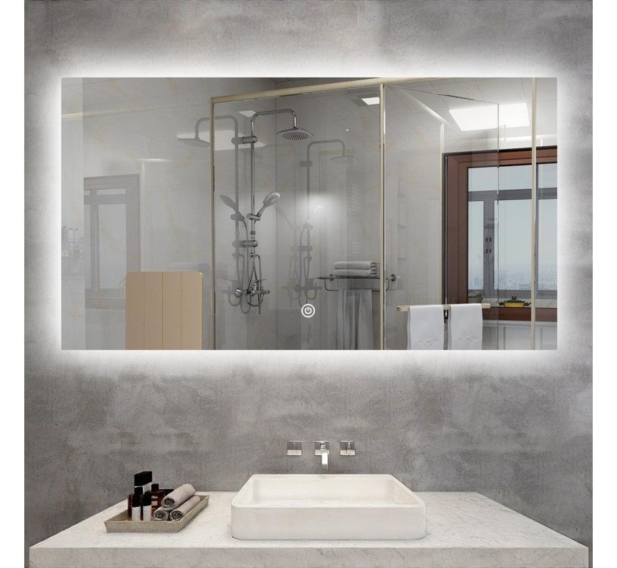 Spiegel met Wifi, tijd en infrarood verwarming 60 x 60 cm 200 Watt
