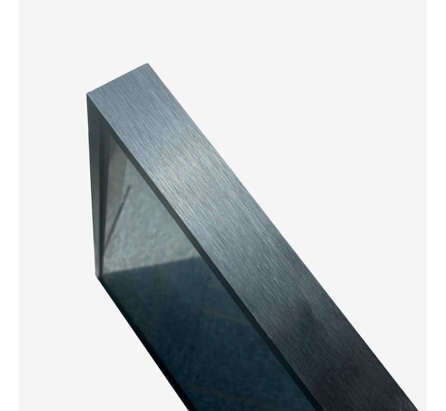 Spiegel met zwart frame, led, anti-condens 75 x 120 cm