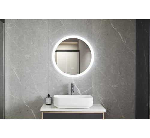 Bella Mirror Spiegel rond 80 cm frameloos, inbouw led verlichting en anti-condens