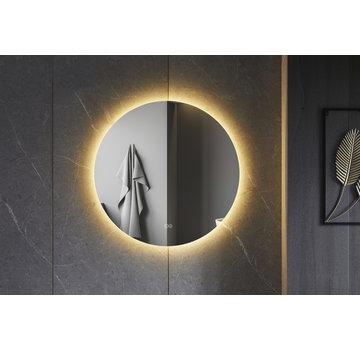 Bella Mirror Spiegel rond 80 cm frameloos, rondom led verlichting en anti condens