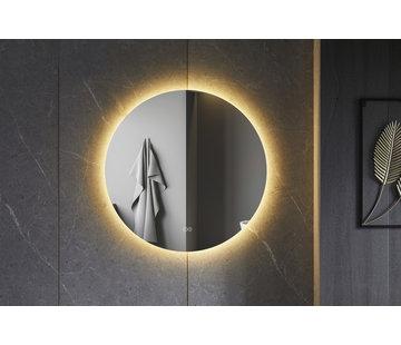Bella Mirror Spiegel rond 100 cm frameloos, rondom led verlichting en anti-condens