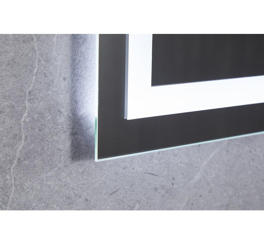 Spiegel 70 x 120 cm frameloos, inbouw led verlichting en anti-condens