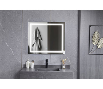 Bella Mirror Spiegel 70 x 80 cm frameloos, inbouw led verlichting en anti-condens