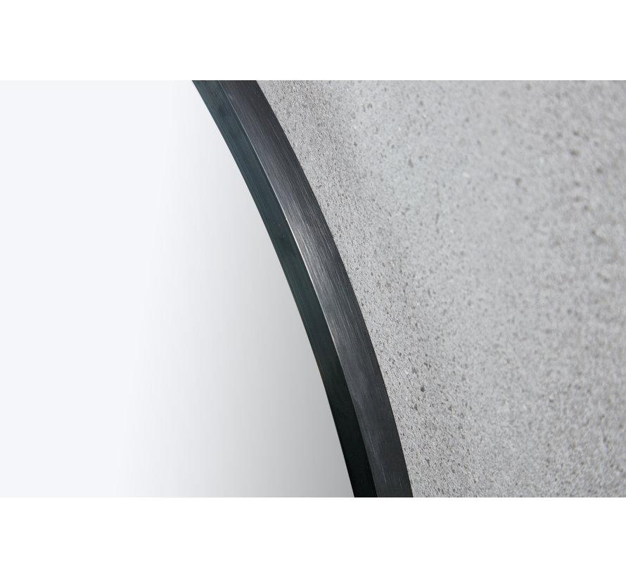 Spiegel rond 80 cm met zwart frame