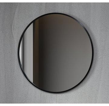 Bella Mirror Spiegel rond 80 cm met zwart frame