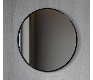Bella Mirror Spiegel rond 60 cm met zwart frame