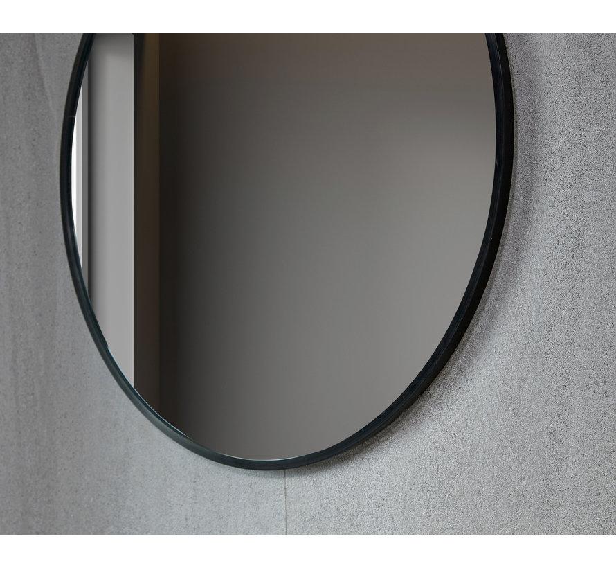 Spiegel rond 60 cm met zwart frame