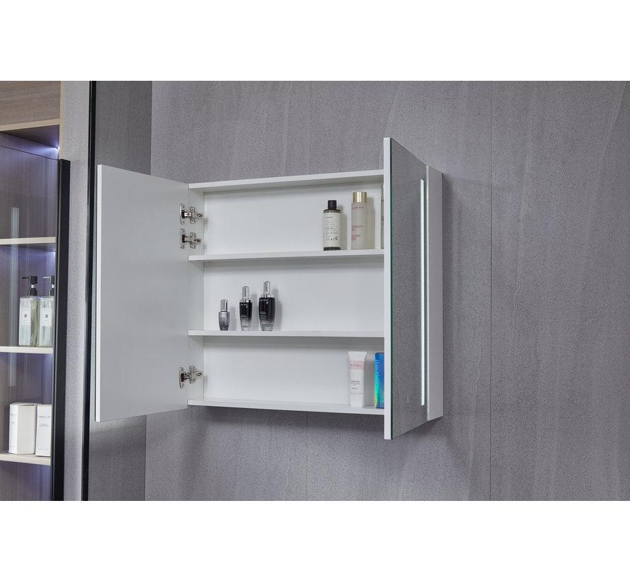 Spiegelkast met led verlichting 80 (b) x 70 cm (h)