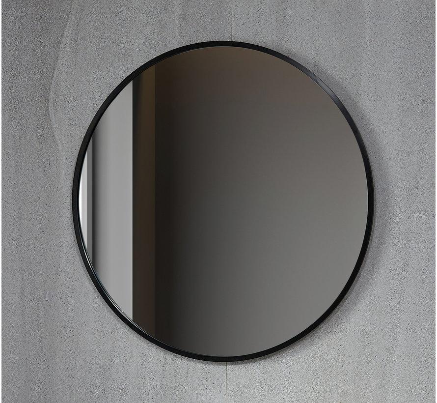 Spiegel rond 100 cm met zwart frame