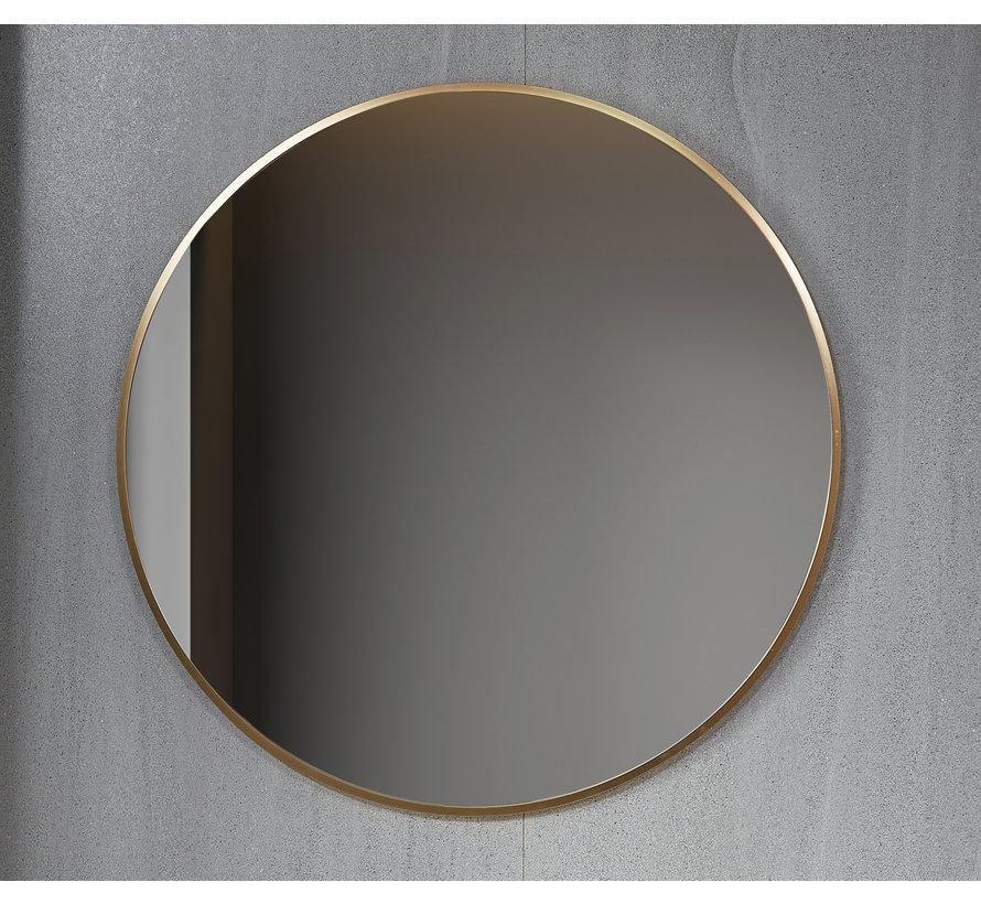 Spiegel rond 80 cm met gouden frame