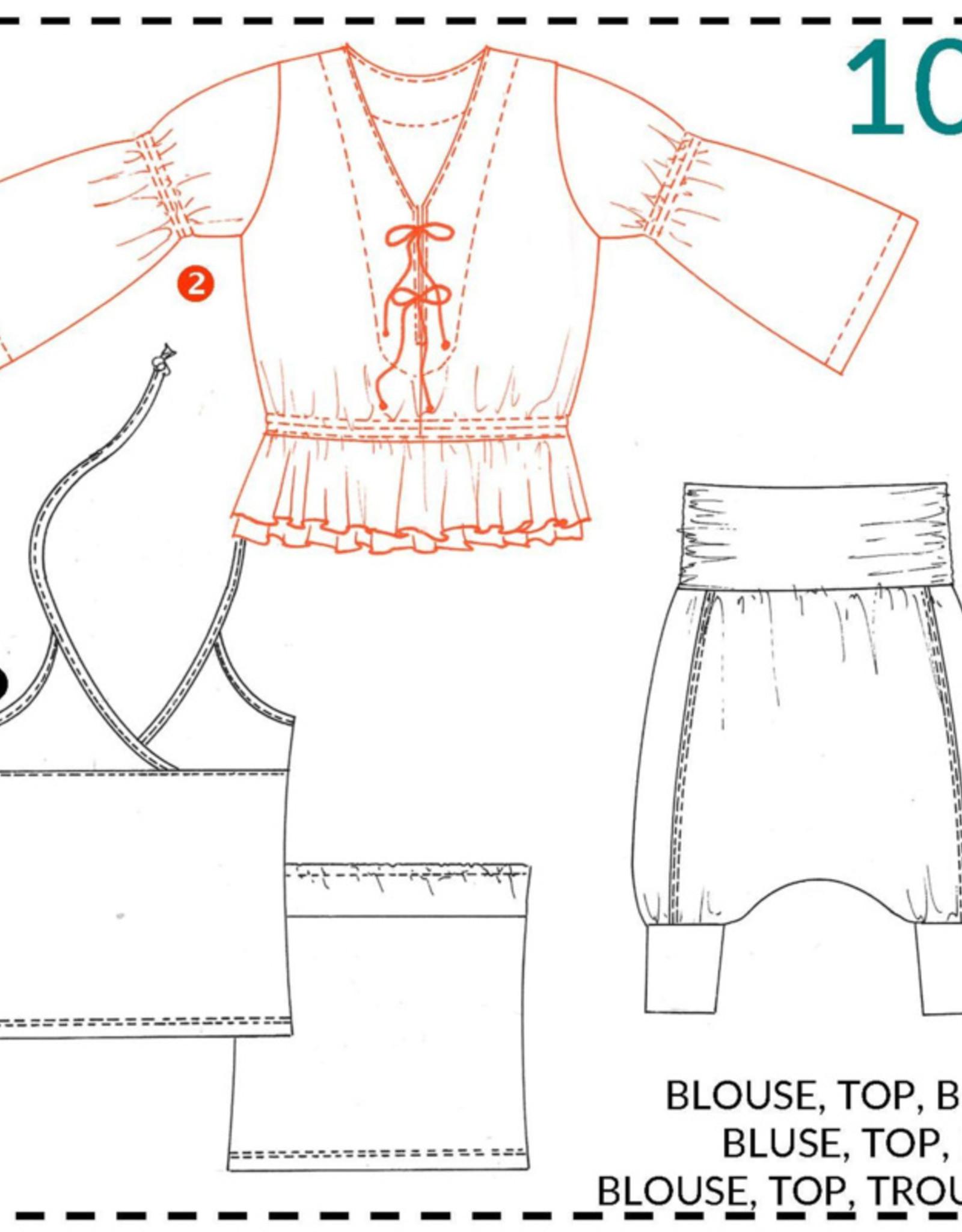 Abacadabra Blouse, top, broek 104 - Abacadabra