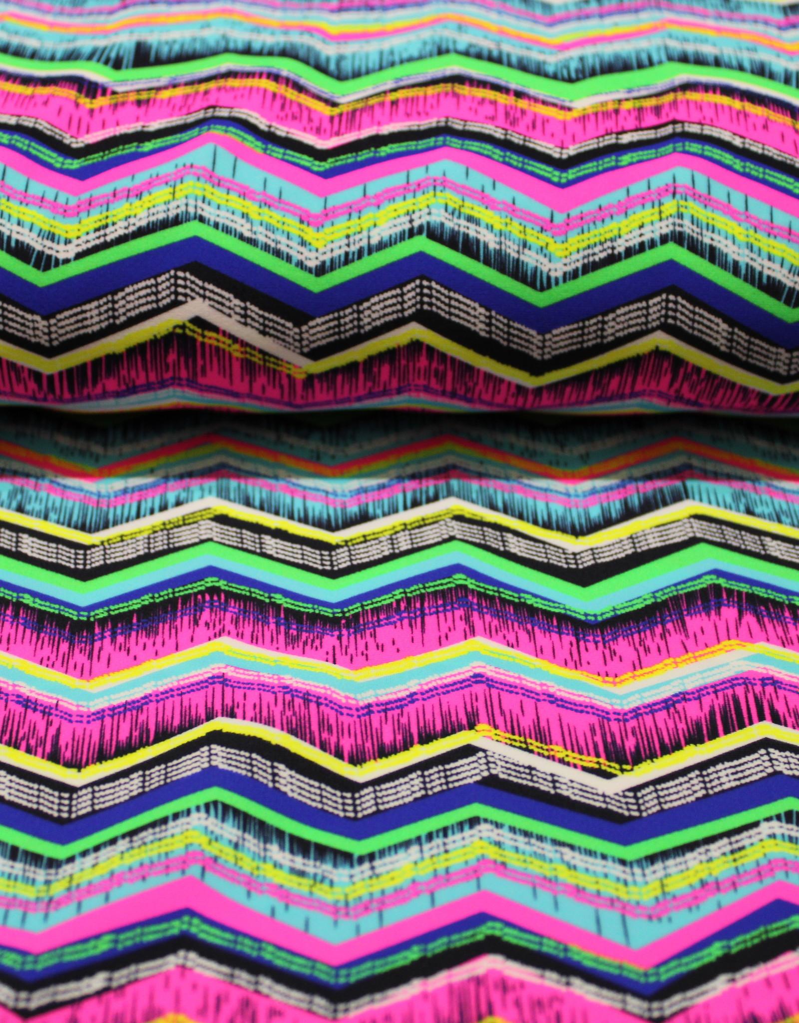 Hemmers zigzag neon lycra