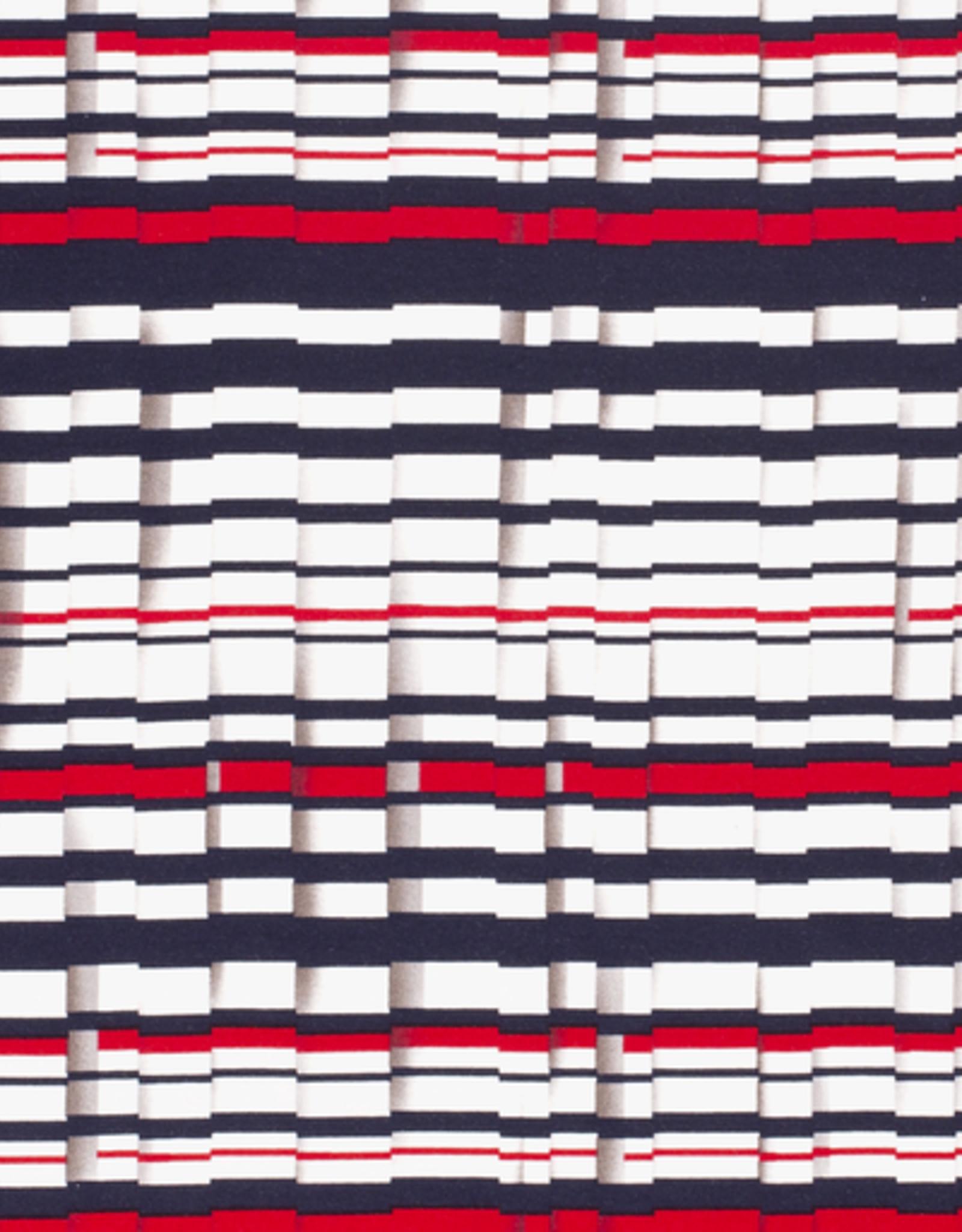 Nooteboom wannabe plissee wit blauw rood