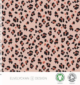 Elvelyckan COUPON  tricot lynx dots dusty pink 80x155cm