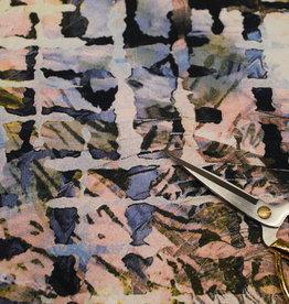 Nooteboom abstract digital print sand viscosetricot