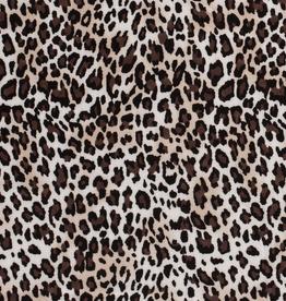 Nooteboom viscose spandex cheetah bruin