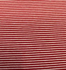 Nooteboom viscosetricot fijn gelijnd rood-wit