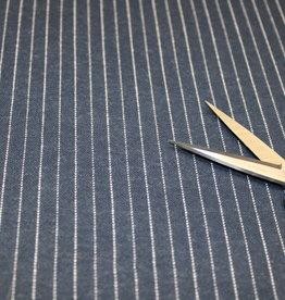 Editex COUPON denim krijtstreep tricot 50x140cm