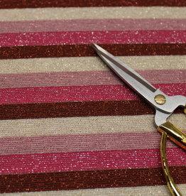 A La Ville Haute Couture glitter tricot stripes pink gold copper