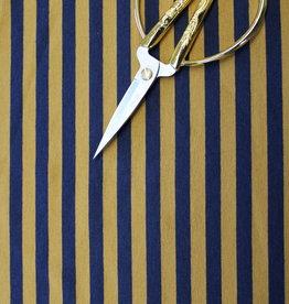 A La Ville Haute Couture gestreept tricot navy/dark ochre