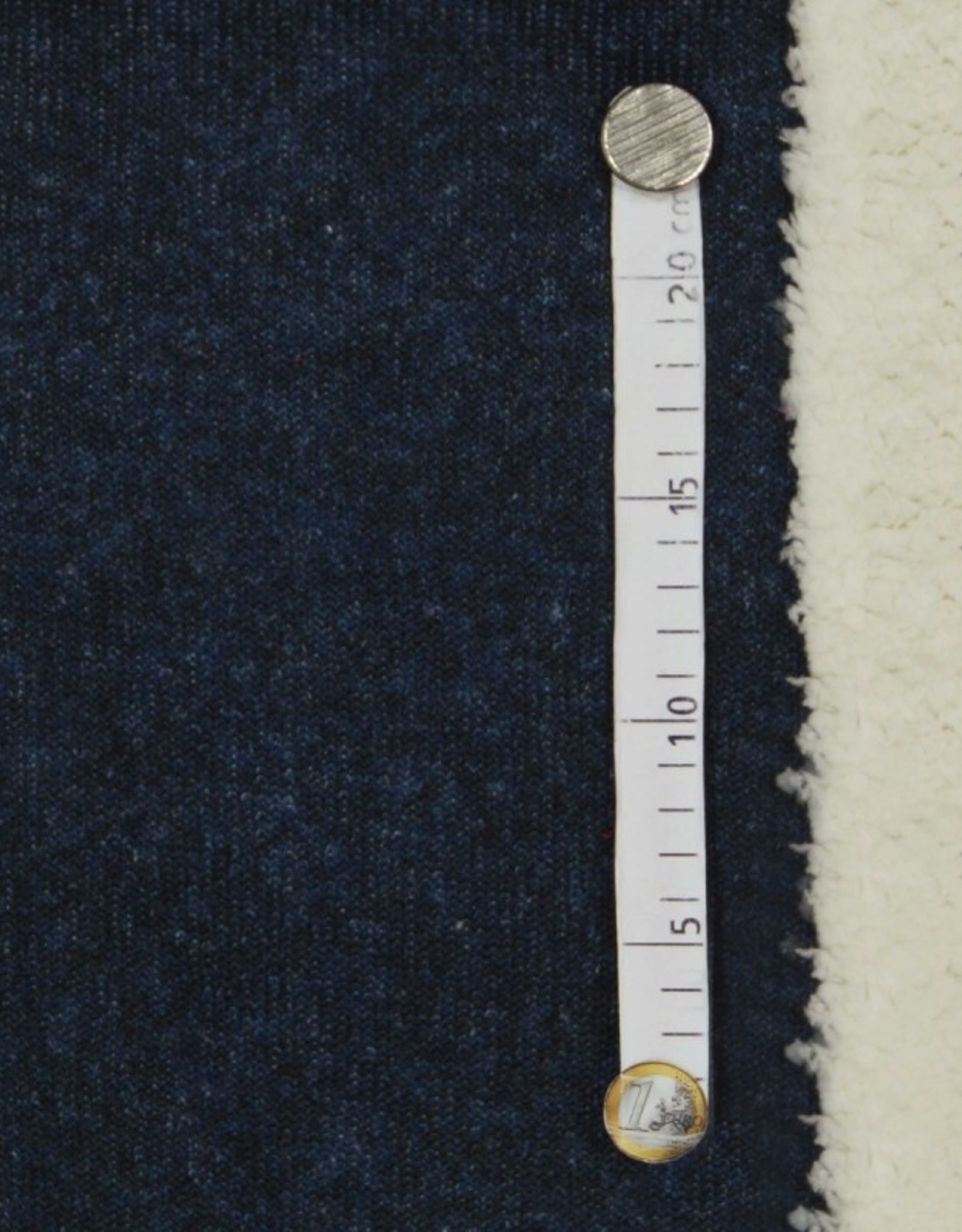 breisel navy/zwart fleece binnenkant wit