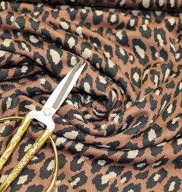 Hilco COUPON mimo luipaardvlek bruin 115x135cm