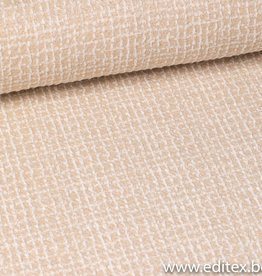 COUPON  tricot beige silver 25x150cm