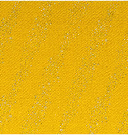 Rico Design COUPON jogging mustard metallic bubbles 65x160cm