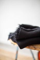 Mind the Maker Viscose waffle knit black