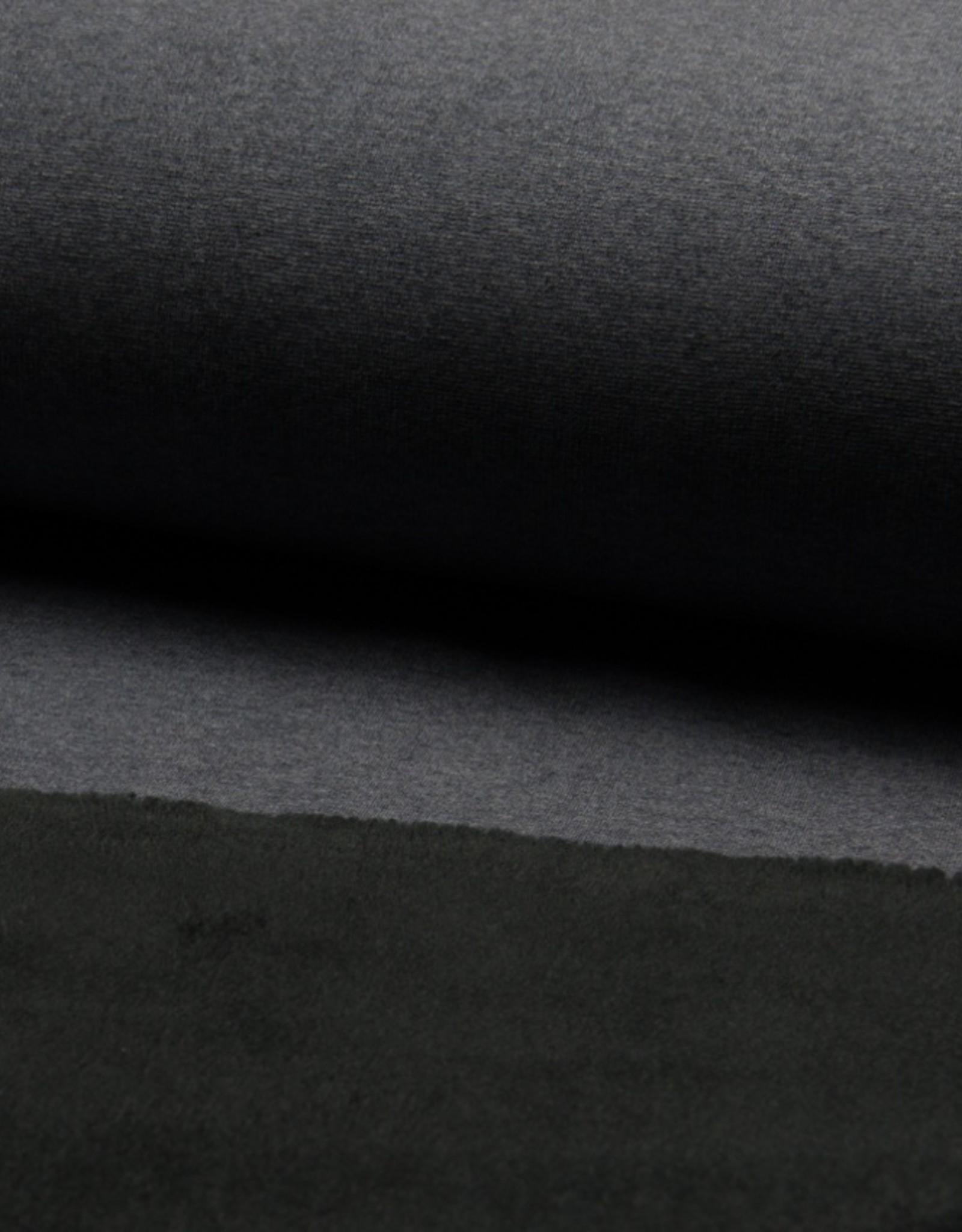 Jogging fleece sparkling foil zwart