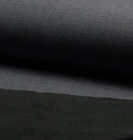 COUPON Jogging fleece sparkling foil zwart 70x150cm !verkleuring in!