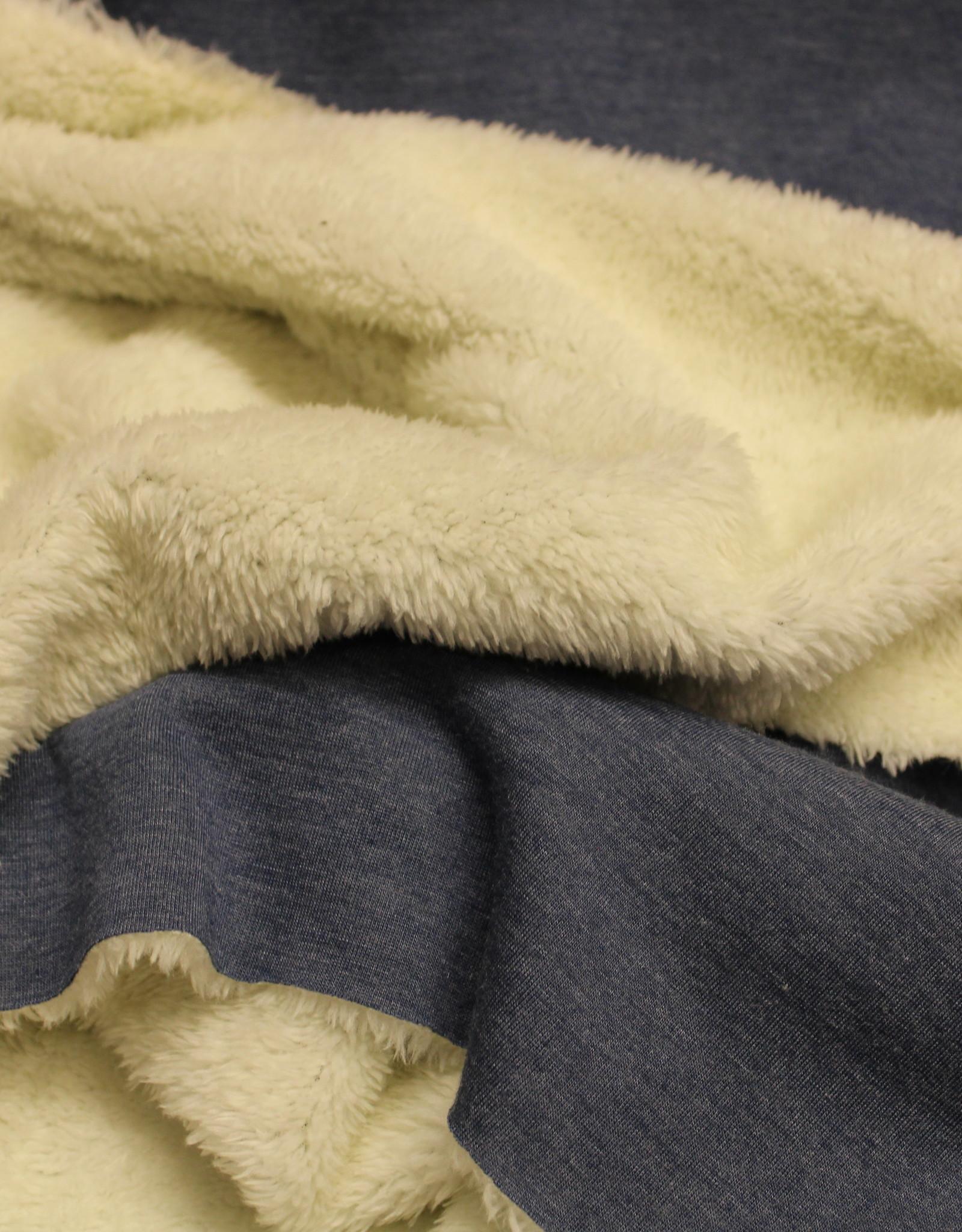 Poppy purring fur fleece jeansblauw