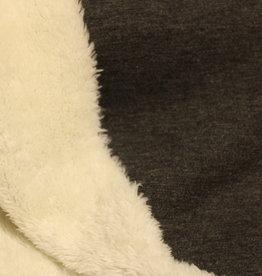 Poppy purring fur fleece grijs mélange