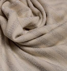 A La Ville Haute Couture lurex stripe silver tricot
