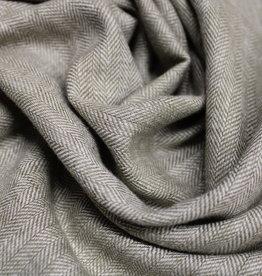 COUPON linnen twill visgraat licht-olijf 80x145cm